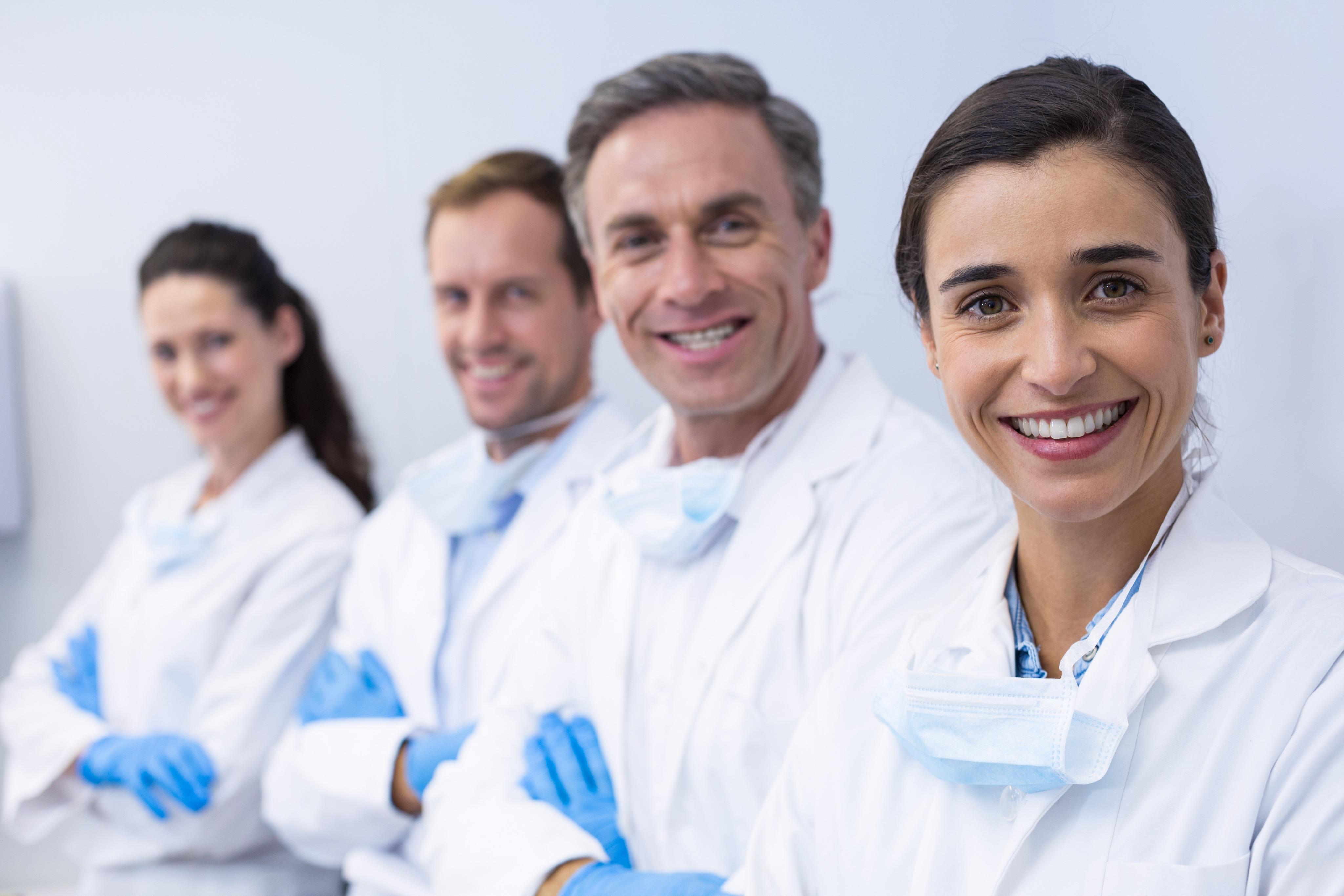 Un groupe de professionnel de santé